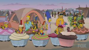 simpsons cup cakes