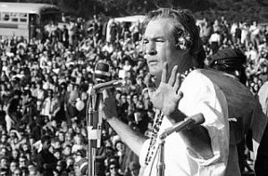 Timothy Leary at the Human Be-In, Golden Gate Park SF 1967. Image: pophistorydig