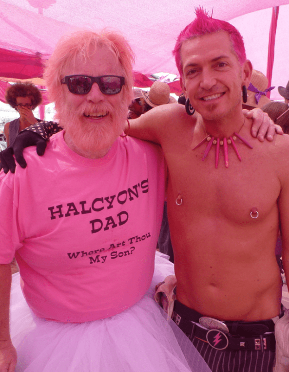 Halcyon with his dad, Bob Weir. Image: BJ