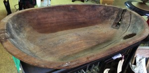 ENORMOUS Antique Wood Trencher Bread Bowl