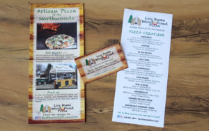 Yellow River Advertising and Design, Log Home Wood Fired Pizza, McGregor, MN