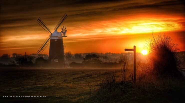 Gary Peason_BOSM_windmill sunset