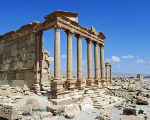 Ruins of Perystilgrave temple, Palmyra Syria