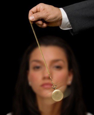 A woman being hypnotised