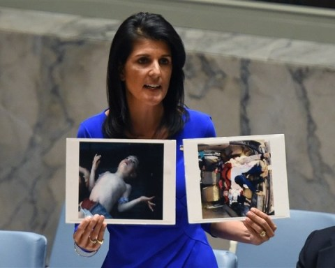 Nikki Haley addresses the UN Security Council on chemical weapons attack in Syria