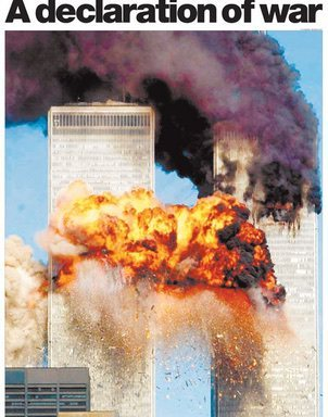 9/11 attack: front page of The Guardian