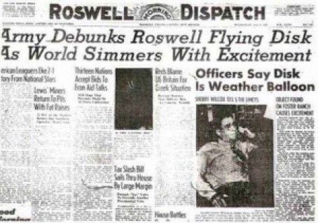 Roswell Incident, newspaper archive