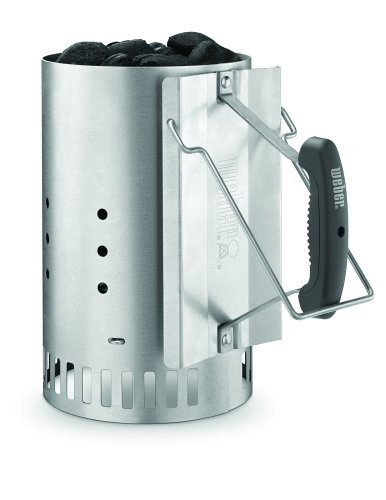 Don't even try to start charcoal without one of these Weber Rapidfire Chimney Starters! Read more in our must-have barbecue accessories article...