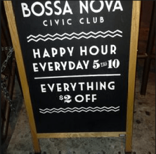 Enjoy the happy hour, not the bathroom