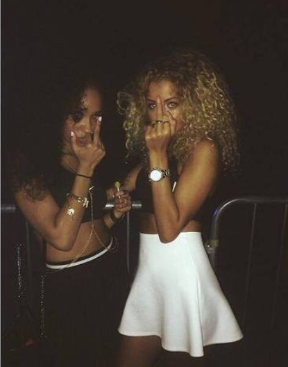 Fellow strippers, Charmaine Plush and Silkee Smooth, give Candee Gram the finger in response to her giving them ebola