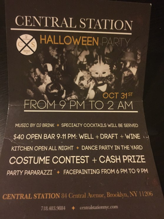 The flier for Central Station's Halloween party seemed to promise more than just an intimate chat