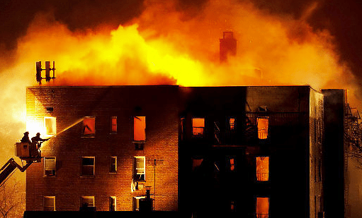 Ubetch's apartment in flames