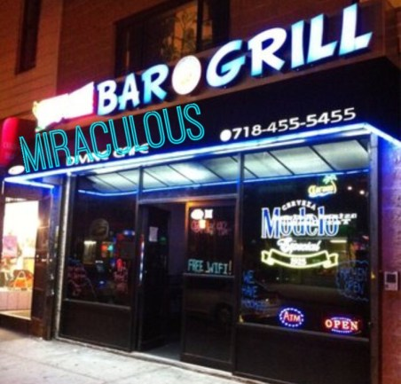Exterior of Miraculous Bar and Grill