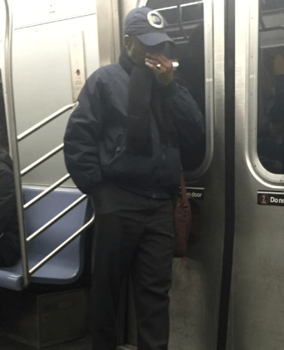 The gross MTA worker in between shifts