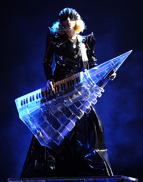 Syntar dreams of one day owning the keytar Lady Gaga played during her Monster Ball tour