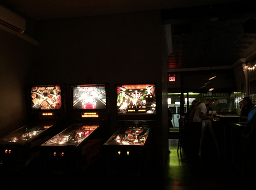 Yes, there are pinball machines, but where's the backyard