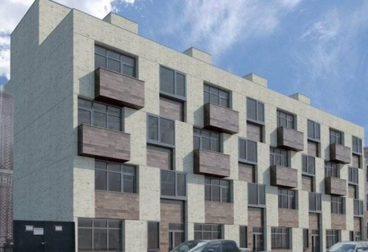 One of many condos rising up in Bushwick