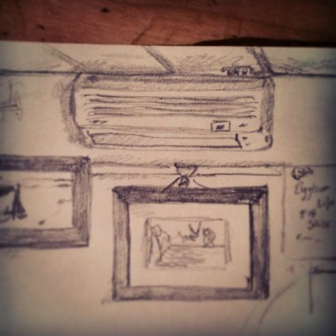 37/365. Shakey rendition of the air con unit down the local health centre (don't worry about me, I'm fine) earlier today. Pencil. Notebook: Leonidas https://instagram.com/p/qeFdjkHyxb/