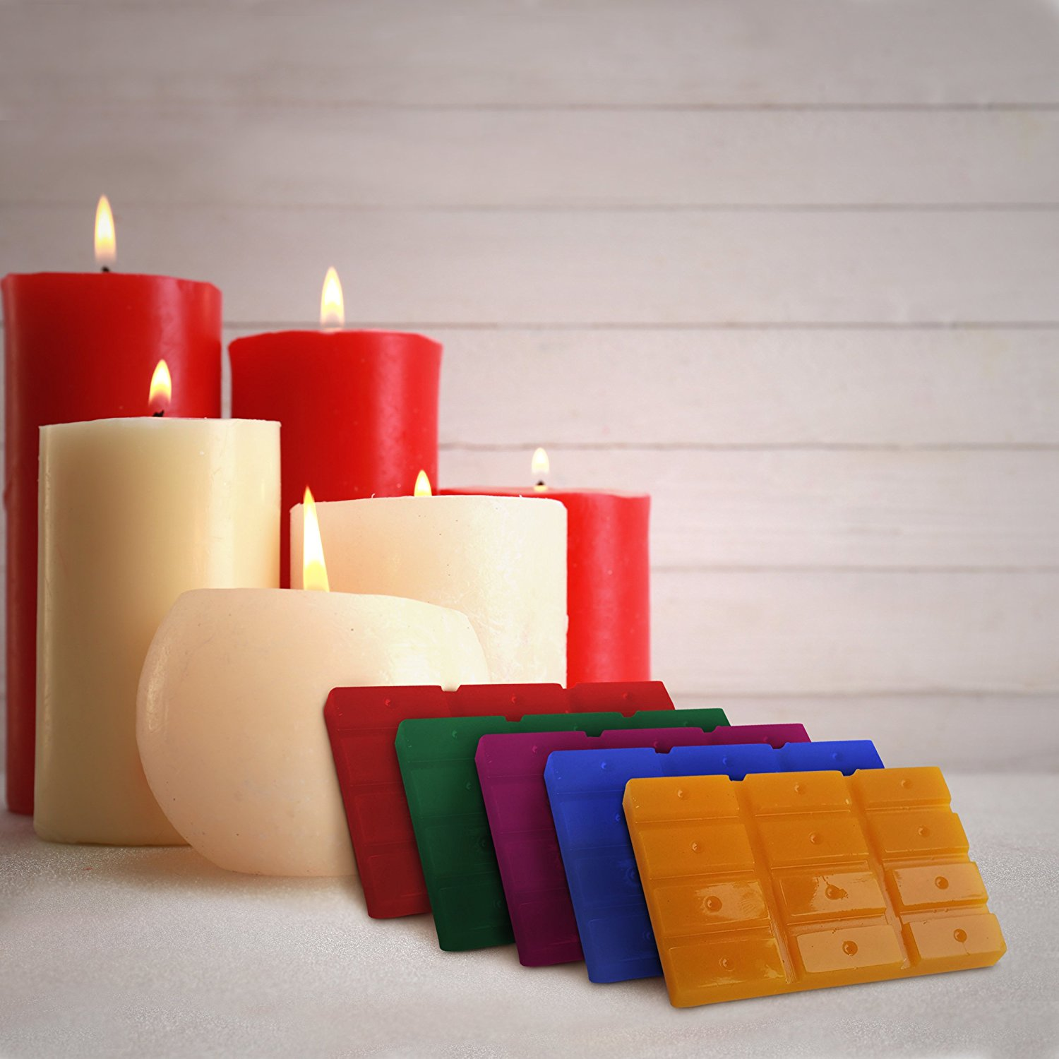 Candle Dye for DIY Soy Candle Making – 5 Color Wax Dye Blocks ...