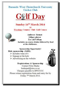 Golf Day Poster Snip
