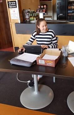Eliza at junior registrations