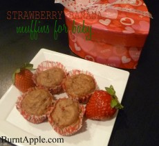 Strawberry Banana Baby Muffins