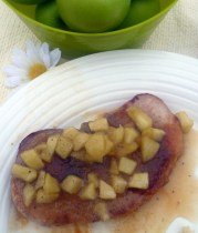 pork chops with apple garnish sauce