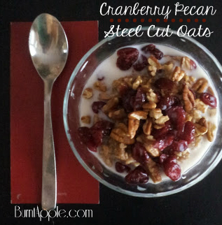 Cranberry Pecan Steel Cut Oatmeal