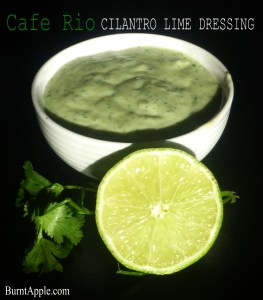 cilantro and lime dressing