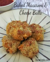Fall Gameday Fun with Baked Macaroni and Cheese Balls