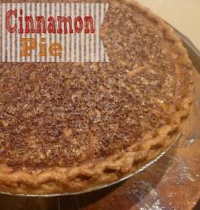 Cinnamon Pie + Giveaway