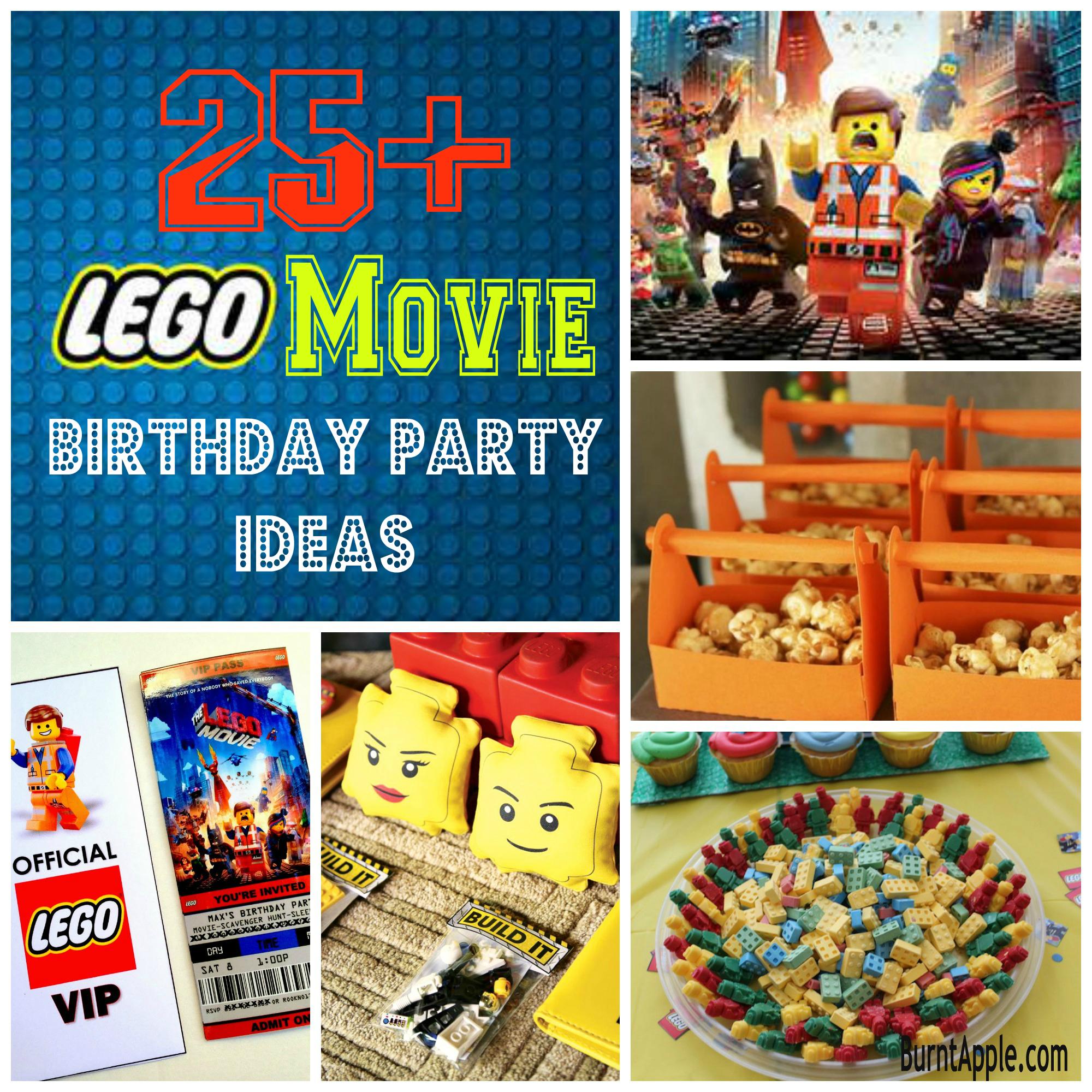 25 Lego Movie Birthday Party Ideas Burnt Apple