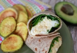 Easter Egg Salad Wrap
