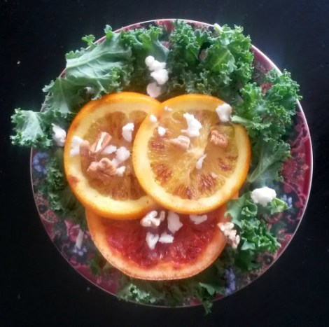 grilled citrus kale salad