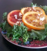 Grilled Citrus Kale Walnut Salad