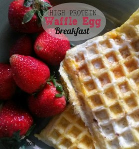 High Protein Waffle Egg Breakfast