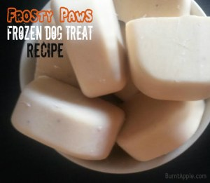 Peanut Butter and Banana Frozen Dog Treats