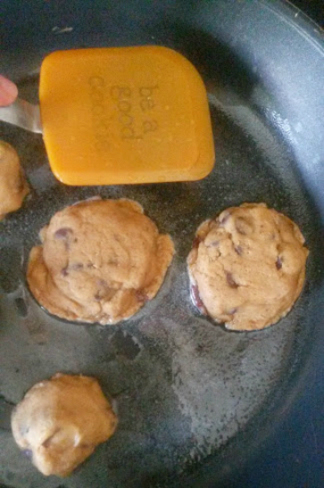 stovetop chocolate chip cookies