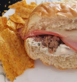 Stuffed Sausage and Cheese French Bread