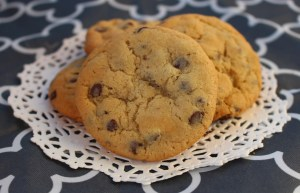 twice baked chocolate chip cookie