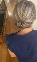 medium length hair updo