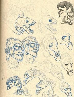 Emo Eel Sketches
