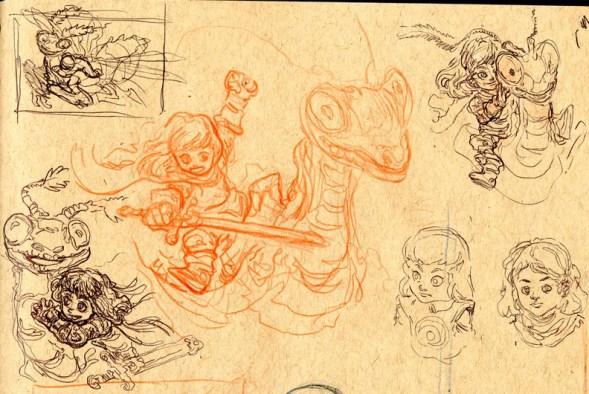 Mantis Knight Sketch 1