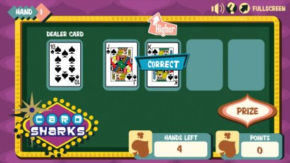 Scientific Games - Card Sharks - Game Screen