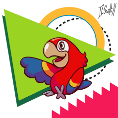 Prints and more available on Society 6! https://society6.com/product/parrot-pal_print#s6-6605409p4a1v45