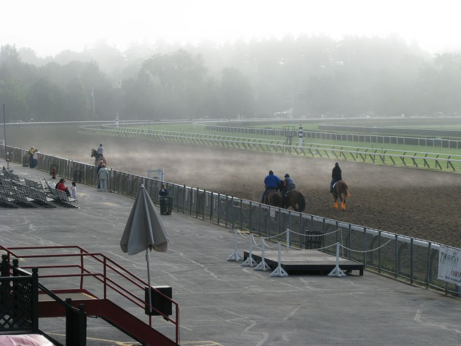 Early morning workout at Saratoga Race Course