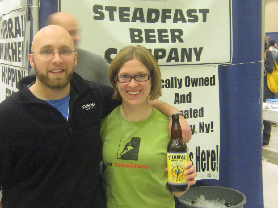 Mike and Alison Hosier of Steadfast Beer