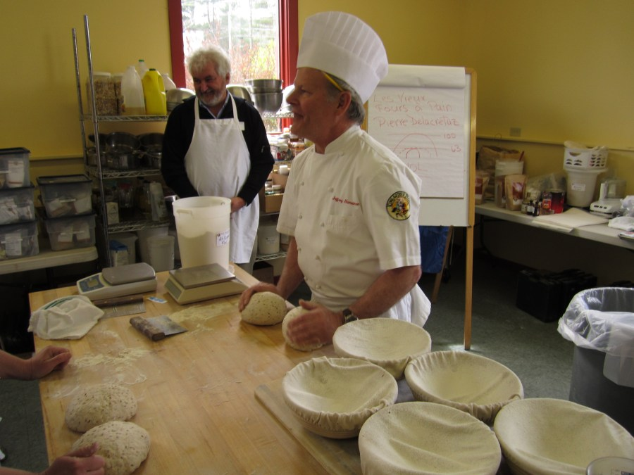 Shaping two boules at one time