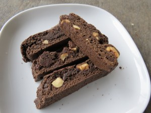 Chocolate Biscotti with Chipotle and Hazelnuts