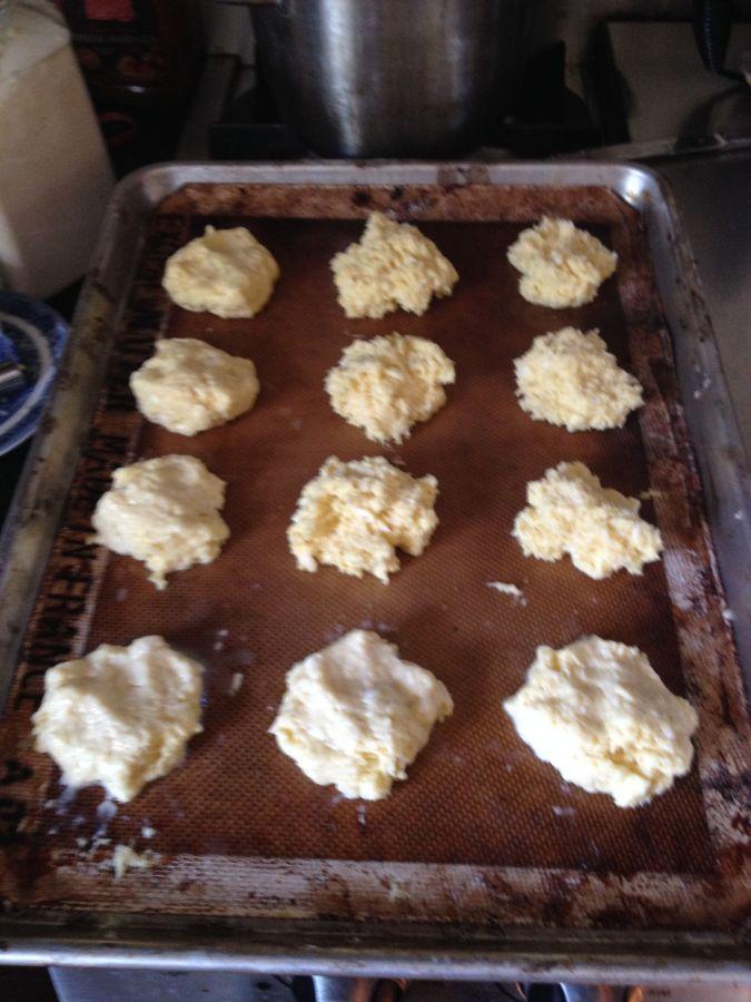Sweet biscuit dough